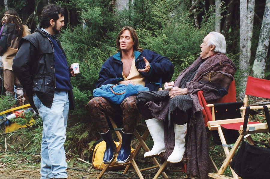 Doug Lefler With Kevin Sorbo and Anthony Quinn