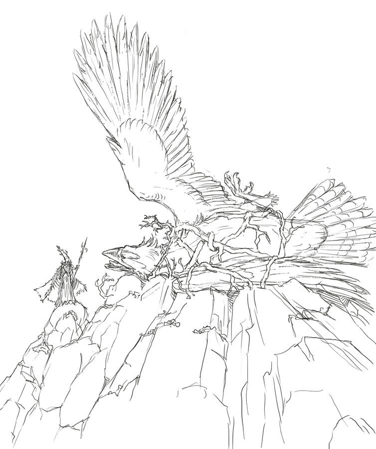 Eagle Captured Sketch