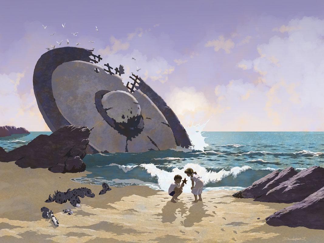 Crashed UFO and Starfish