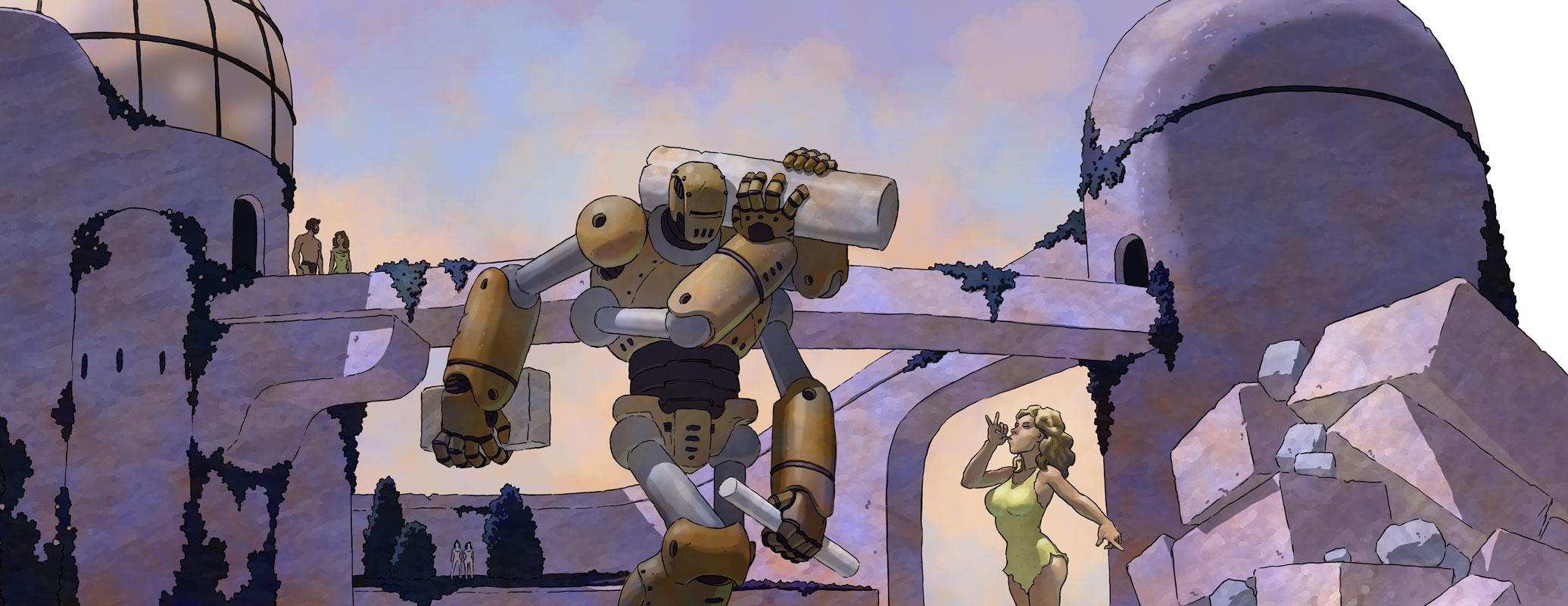 Robots do the heavy lifting