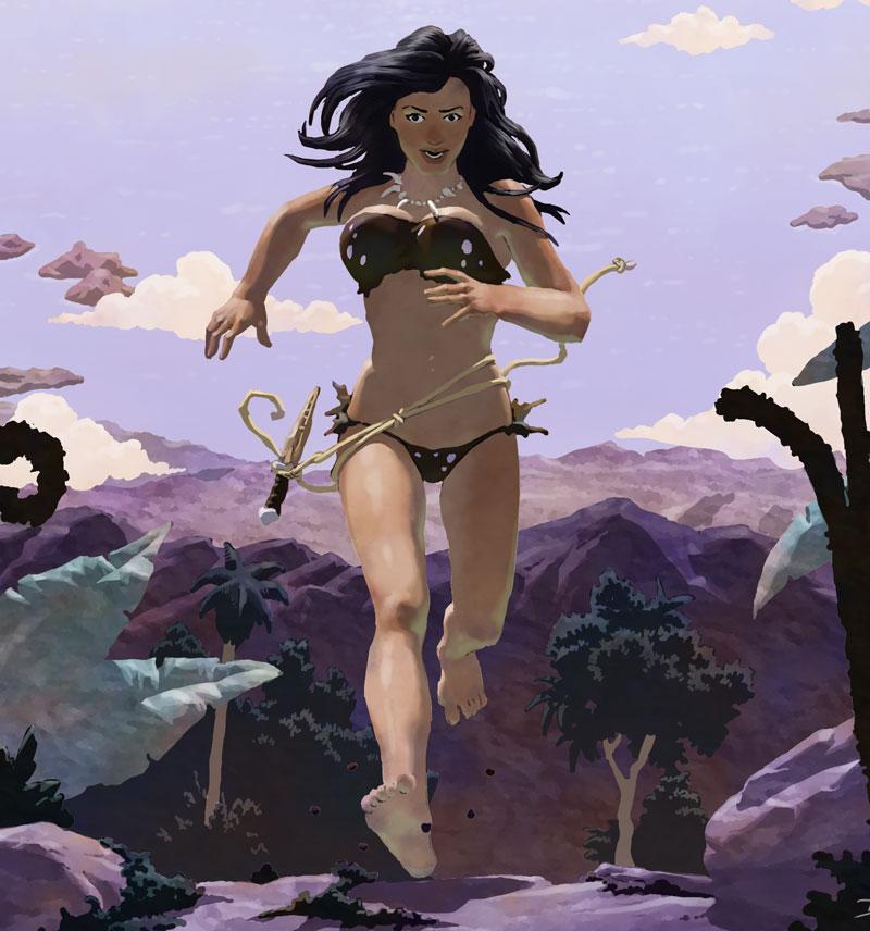 Dian the Beautiful running