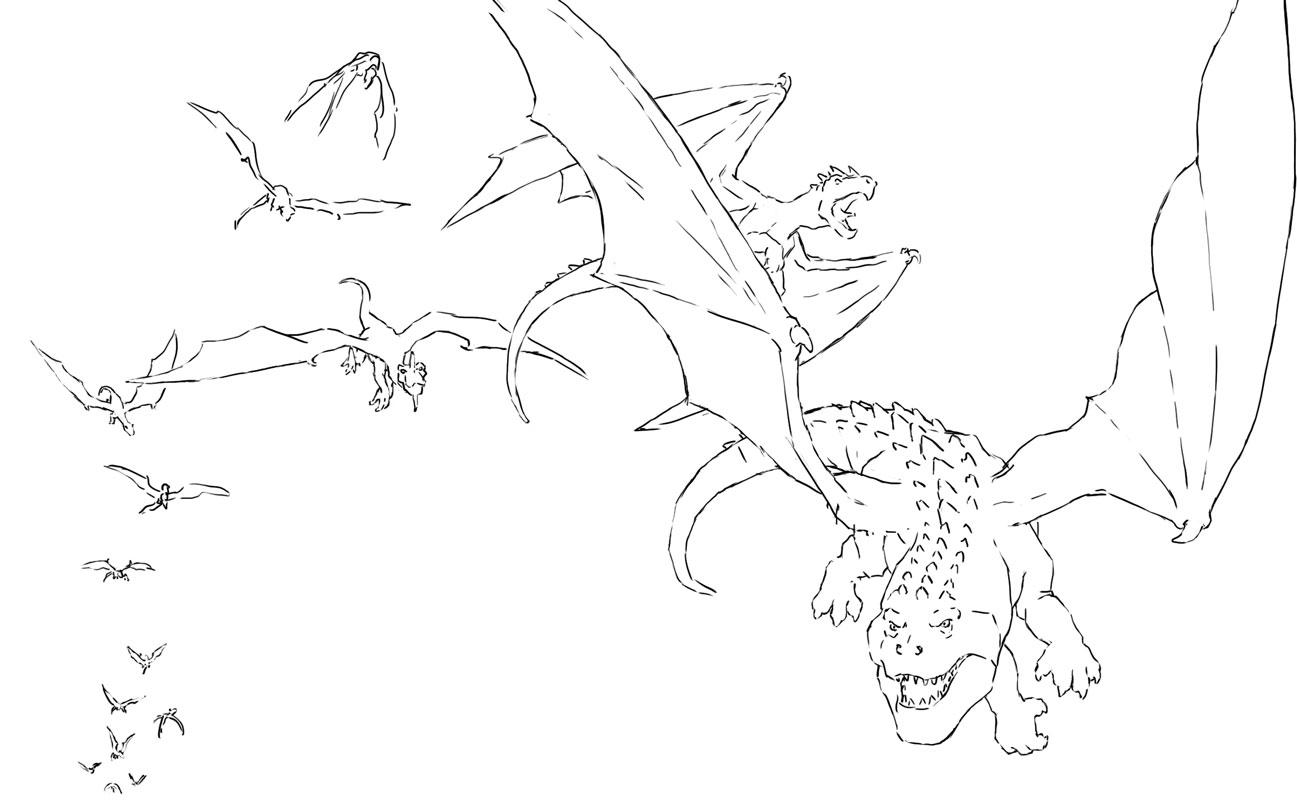 Flock of dragons.