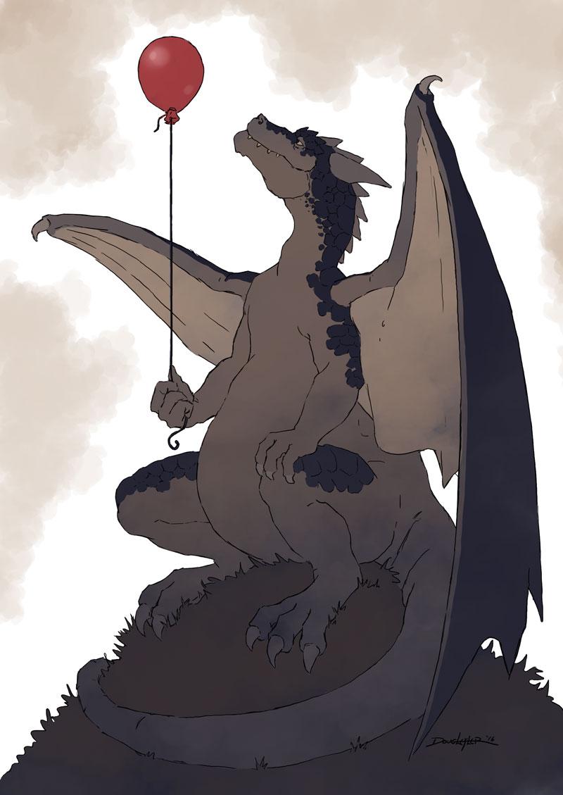 Dragon and balloon.