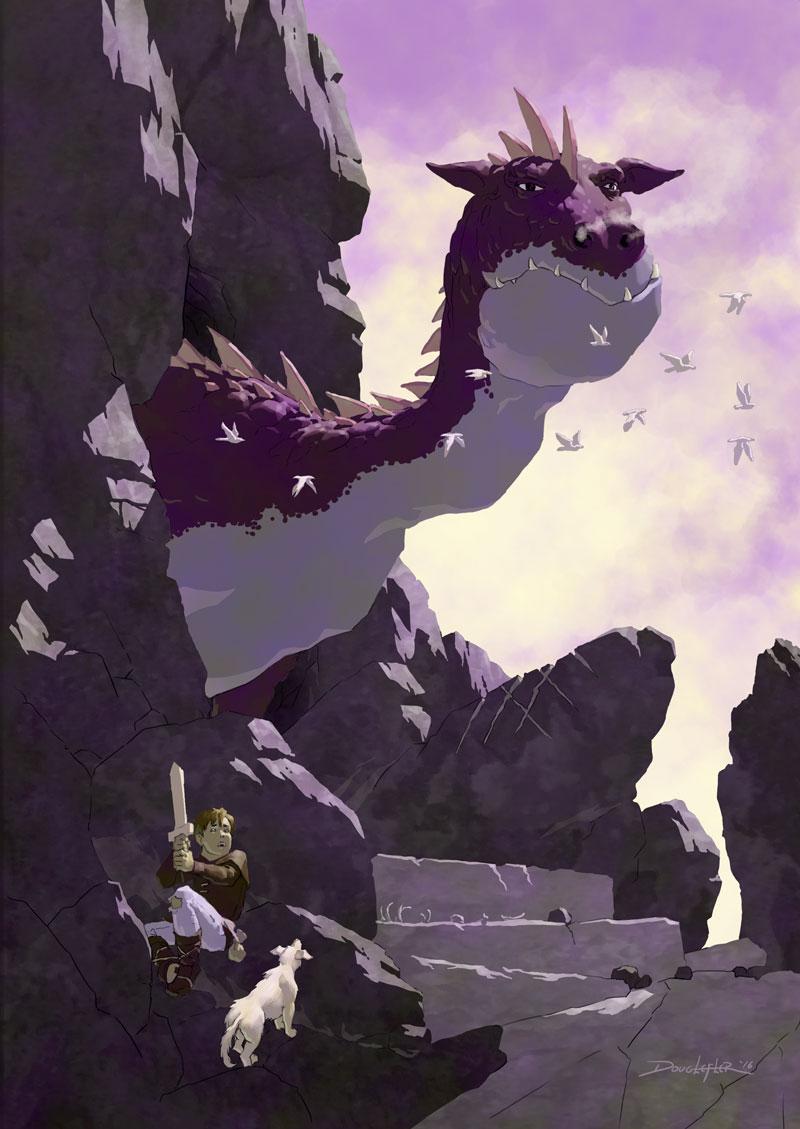 A Boy, a dog and a dragon