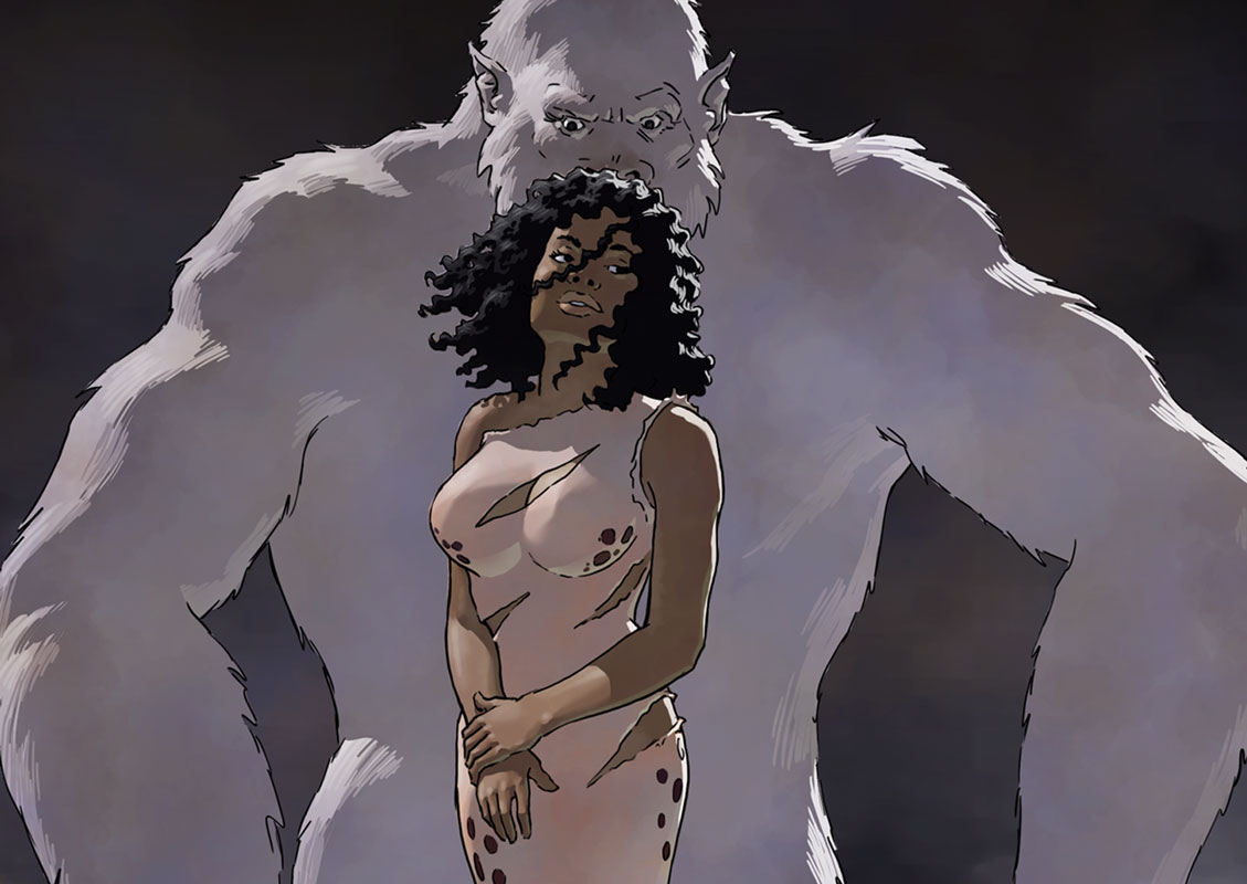 """Pru and white ape from The Heart of the Hollow World #19 """"Breach"""""""