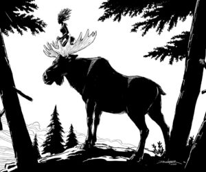 """Moose Rider"""